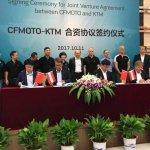 KTM CF Moto Joint Venture announced