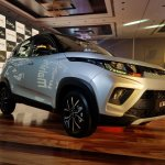Mahindra KUV100 NXT Silver & Black front three quarters right side