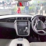 Mahindra KUV100 NXT white accessorised dashboard