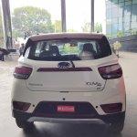 Mahindra KUV100 NXT white accessorised rear