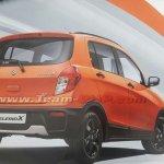 Maruti Celerio X leaked brochure rear three quarters