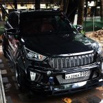 Modified Hyundai Creta Black Devil front