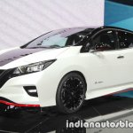 Nissan Leaf NISMO Concept front three quarters left side at 2017 Tokyo Motor Show