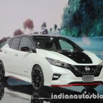 Nissan Leaf NISMO Concept front three quarters right side at 2017 Tokyo Motor Show