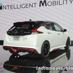Nissan Leaf NISMO Concept rear three quarters at the 2017 Tokyo Motor Show