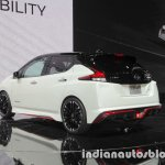 Nissan Leaf NISMO Concept rear three quarters left side at 2017 Tokyo Motor Show