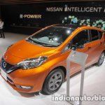 Nissan Note e-Power front three quarters left side at 2017 Tokyo Motor Show