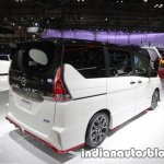 Nissan Serena Nismo rear three quarters left at the Tokyo Motor Show