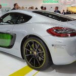 Porsche Cayman e-volution rear three quarters