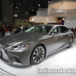 RHD 2018 Lexus LS front three quarters left side at 2017 Tokyo Motor Show