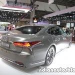 RHD 2018 Lexus LS rear three quarters at 2017 Tokyo Motor Show