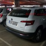 Skoda Karoq spotted in India rear quarter