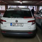 Skoda Karoq spotted in India rear