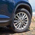 Skoda Kodiaq test drive review alloy wheel
