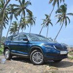 Skoda Kodiaq test drive review front angle low