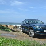 Skoda Kodiaq test drive review front angle