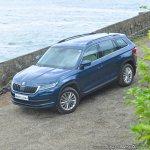 Skoda Kodiaq test drive review front three quarters top