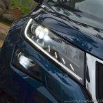 Skoda Kodiaq test drive review headlight