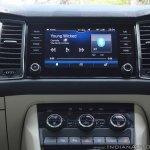 Skoda Kodiaq test drive review interior centre console