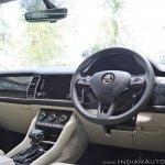 Skoda Kodiaq test drive review interior dashboard angle