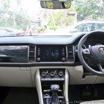 Skoda Kodiaq test drive review interior dashboard