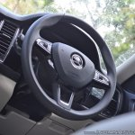 Skoda Kodiaq test drive review interior steering wheel