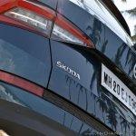 Skoda Kodiaq test drive review skoda badge rear