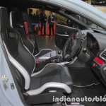 Subaru WRX STI S208 Limited Edition interior at the Tokyo Motor Show