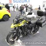 Suzuki V-Strom 250 front three quarters at 2017 Tokyo Motor Show