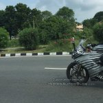 TVS Apache RR 310S spied with modified tyre hugger front