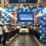 Tata Tiago 100,000 unit rolls out of Sanand Plant
