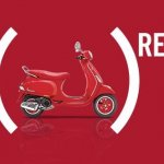 Vespa RED right side