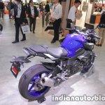 Yamaha MT-10 rear three quarters at 2017 Tokyo Motor Show