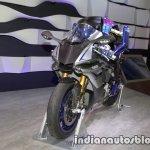 Yamaha Motobot Ver.2 concept front three quarters at 2017 Tokyo Motor Show