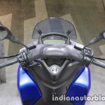 Yamaha Tricity 155 instrument cluster and handlebar at 2017 Tokyo Motor Show