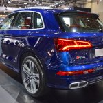 2017 Audi SQ5 rear three quarters left side at 2017 Dubai Motor Show