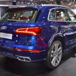 2017 Audi SQ5 rear three quarters right side at 2017 Dubai Motor Show