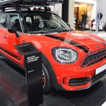 2017 MINI John Cooper Works Countryman front three quarters at 2017 Dubai Motor Show