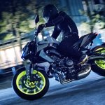 2017 Yamaha MT-09 press action shot front left quarter