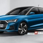 2018 Audi A1 Rendered front