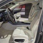 2018 Audi A8 L front seats at 2017 Dubai Motor Show