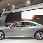 2018 Audi A8 L profile at 2017 Dubai Motor Show