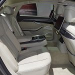 2018 Audi A8 L rear seats right side view at 2017 Dubai Motor Show
