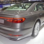 2018 Audi A8 L rear three quarters at 2017 Dubai Motor Show