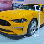 2018 Ford Mustang front three quarters left side at 2017 Dubai Motor Show