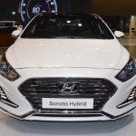 2018 Hyundai Sonata Hybrid (facelift) front at 2017 Dubai Motor Show
