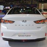 2018 Hyundai Sonata Hybrid (facelift) rear at 2017 Dubai Motor Show
