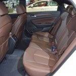 2018 Hyundai Sonata Hybrid (facelift) rear seats at 2017 Dubai Motor Show