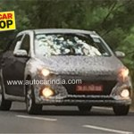 2018 Hyundai i20 facelift spied front