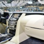 2018 Infiniti QX80 at Dubai Motor Show 2017 dashboard